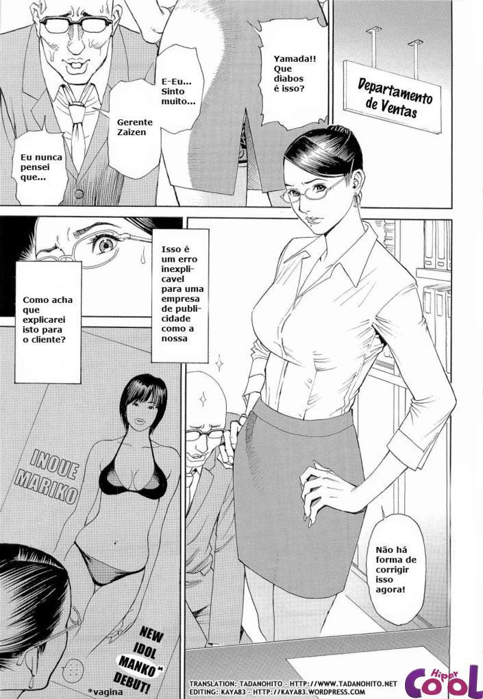M Onna Senka, secretária puta hentai sexo anal