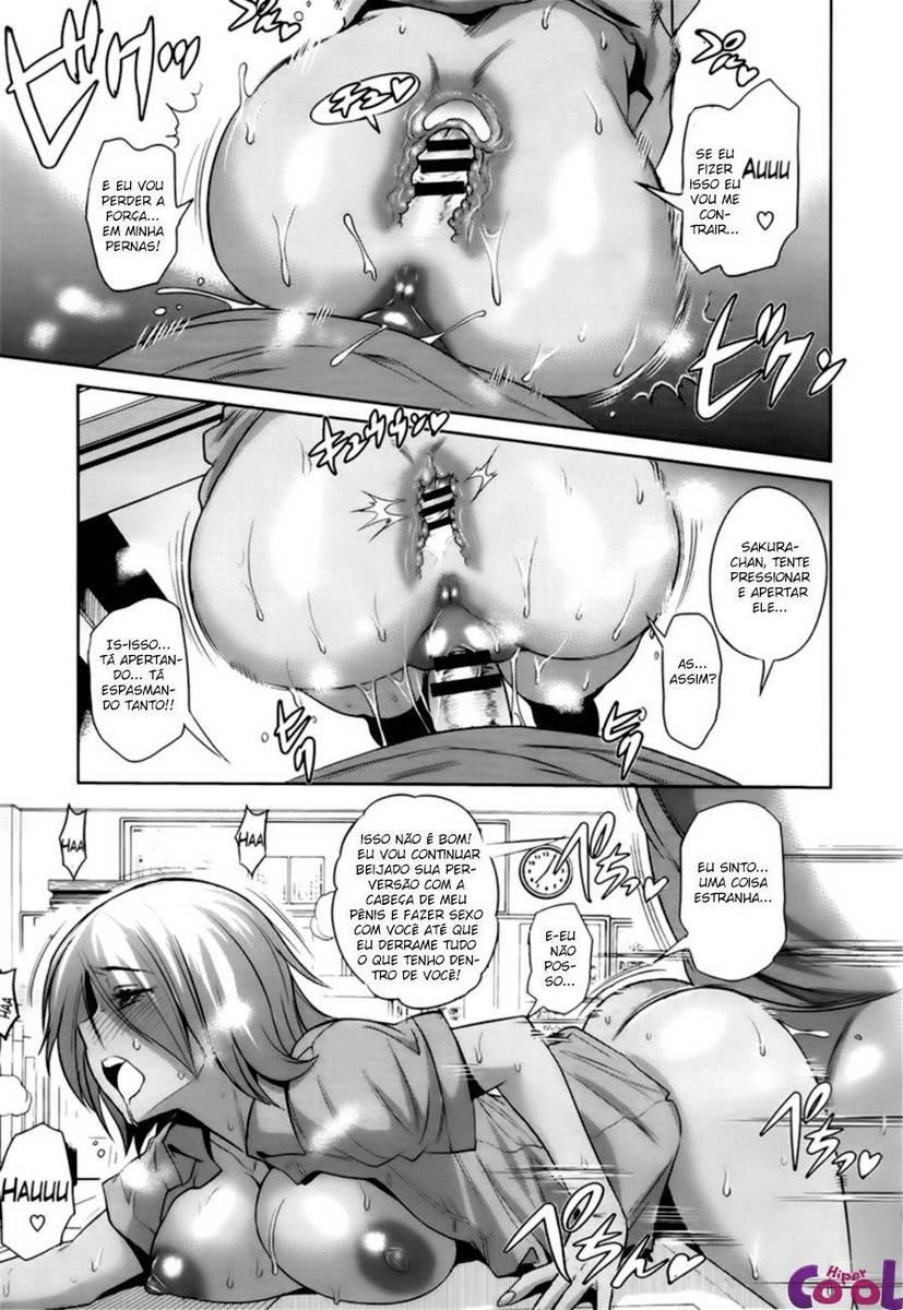 Ninfetinha exibindo os peitoes