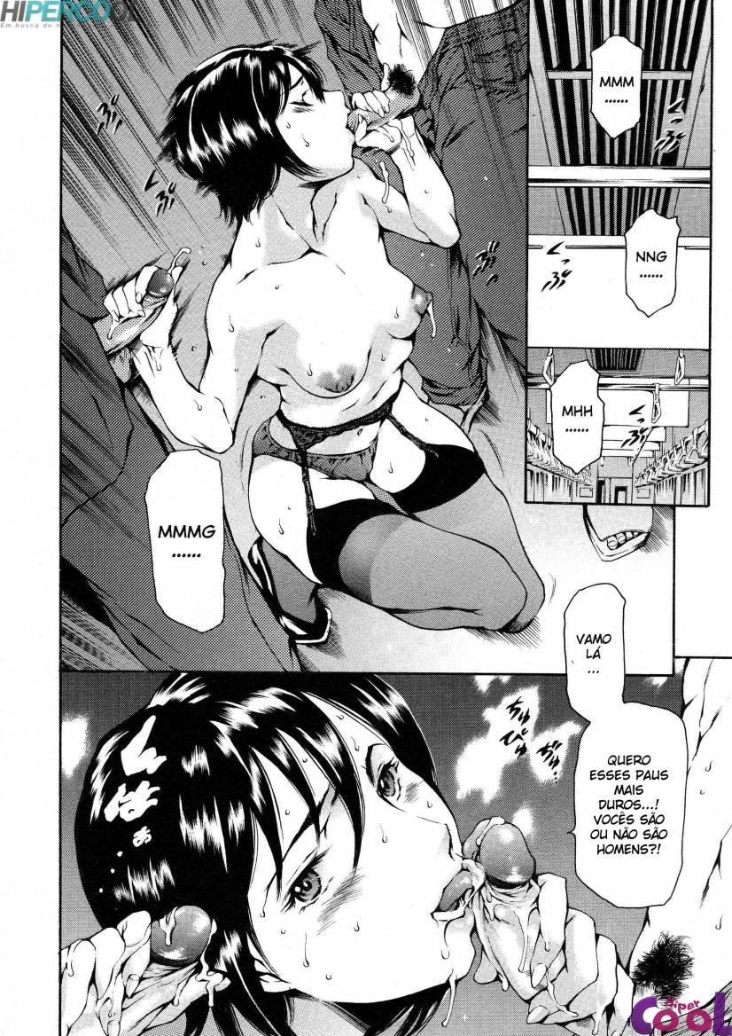 Hentai O espírito do capitalismo, sexo no trem