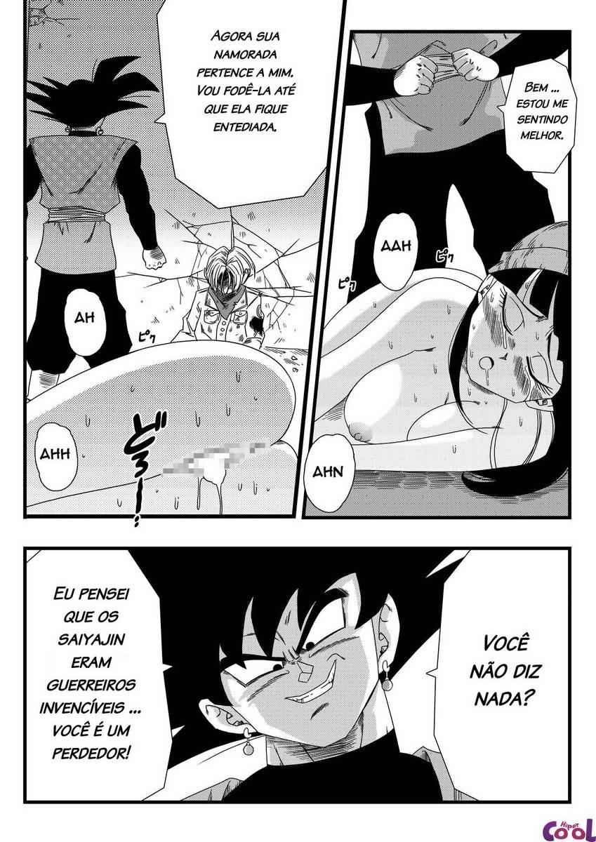 Goku Black socando a pica