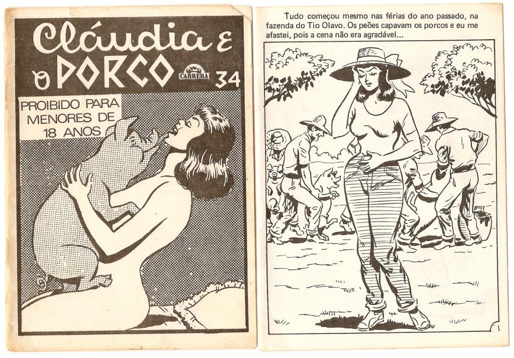 Sexo animal entre porco e Claudia gostosa