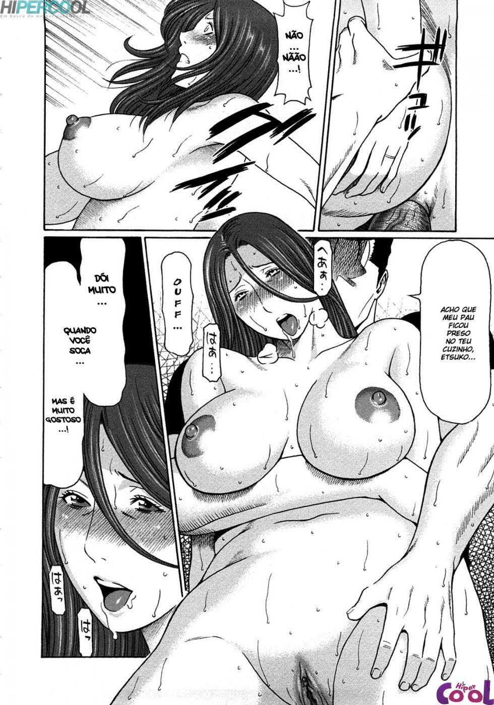 Etsuraku no Tobira 6, primeiro anal